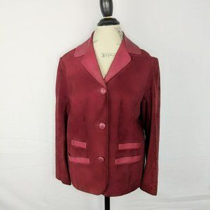 Magenta Butter Soft Leather Suede Jacket